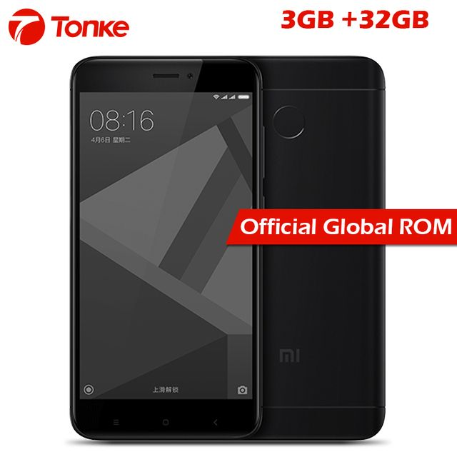 "Official Global Rom Xiaomi Redmi 4X 4 X 3GB RAM 32GB ROM Mobile Phone Snapdragon 435 Octa Core 5.0"" 4100mAh 13.0MP"