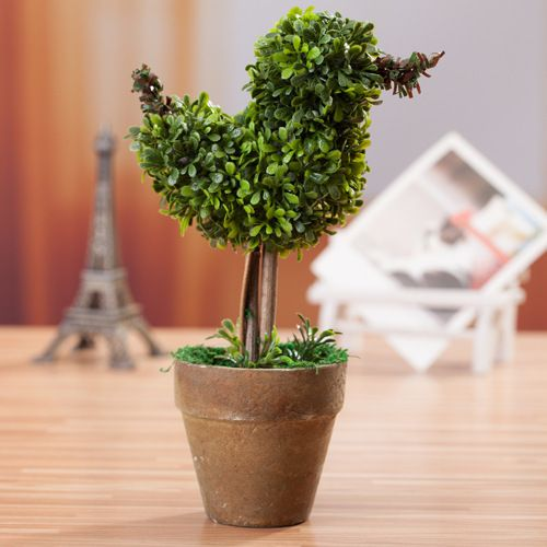 Small Artificial plants bonsai green bird shape potted artificial plant flowers home table decoration novelty home