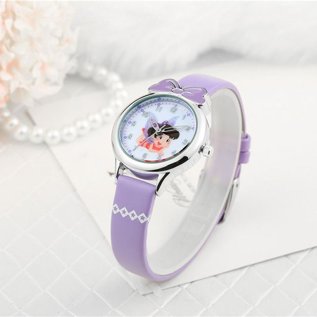 Fashion Casual Cartoon Bow Watches Fairy Butterfly Leather Quartz Watch Female Wristwatch Relojes Mujer FX1612NJ