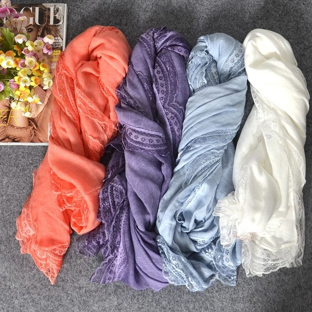 2016 Woman Scarves/Scarf South Korea s foreign trade cotton lace scarf monochrome female literary sunscreen shawl ll