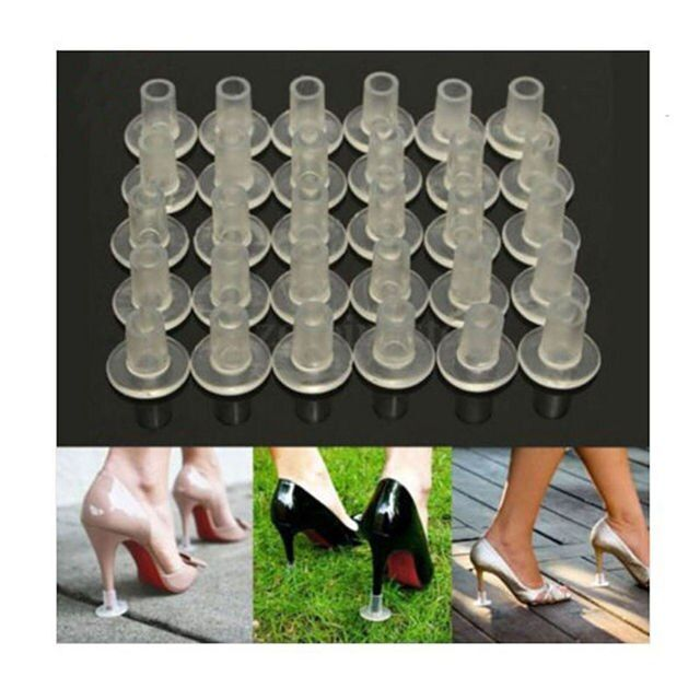 1 Pairs High Heel Protectors Latin Stiletto Dancing Covers Heel Stoppers Antislip Silicone High Heeler For Wedding Favor Soft