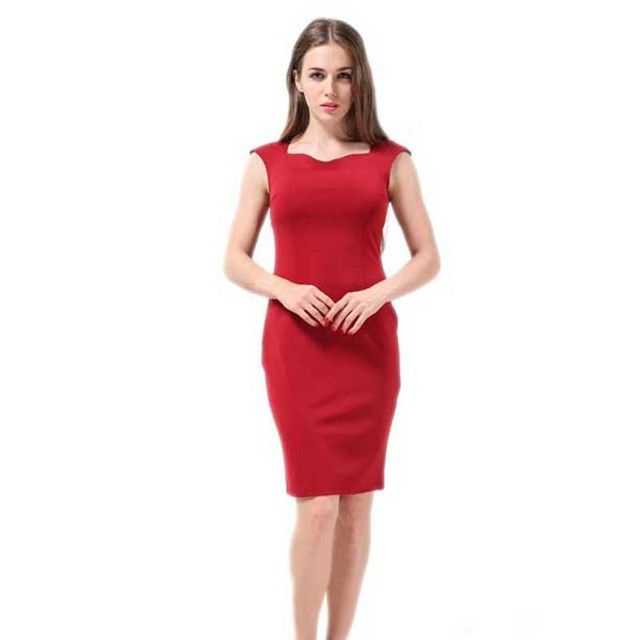 Hello Rose:2016 New Arrival Casual Dress Sexy Business Dress Sleeveless Hot Sale Loose Elegant Dress Sheath Pencil Dress 4XL