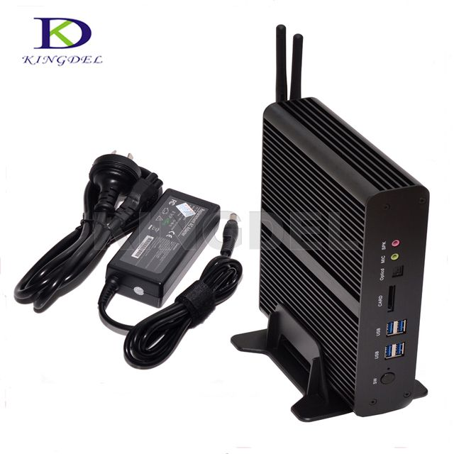 Big promotion Fanless barebone Mini PC Core i7 5550U Intel HD Graphics 6000 2*HDMI LAN HTPC