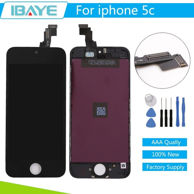 No Dead Pixel Spot Display For iPhone 5C LCD Screen Digitizer + Touch Glass Assembly Black Pantalla  + Tool Set