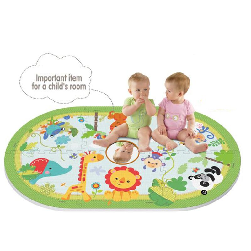 Play Puzzle Multi-function Animal Flannel Stitching Mats Crawling Rugs Eva Foam Mat Pad Floor Play Puzzle Mat Floor Mat/Carpet