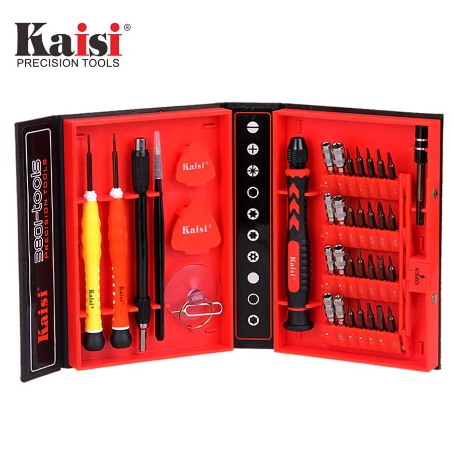 Kaisi 38 in 1 Screwdriver set screwdriver kit phone Opening Repair tool for PC, laptop, mobile phone