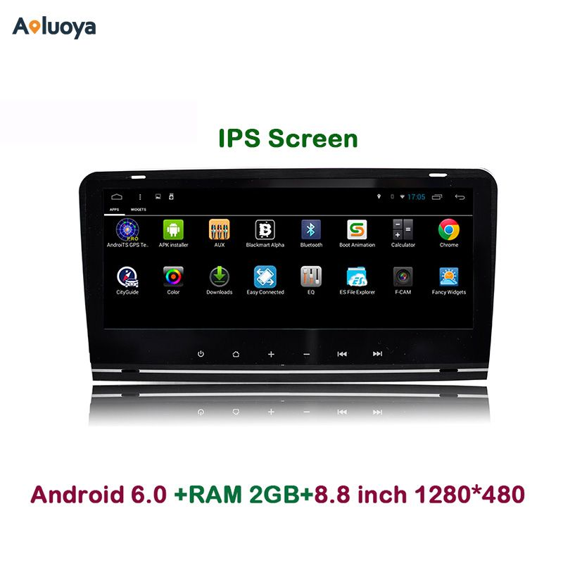 "Aoluoya 8.8""IPS 2GB RAM 2 Din Android 7.1 CAR DVD Player Radio GPS For AUDI A3 S3 2003 2004 2005 2006 2007 2008 2009 2010 2011"
