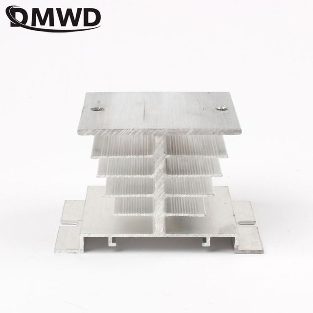 DMWD Solid state radiator I-50, ssr single phase solid state relay, 10A-40A 10A 15A 25A 40A 50X50X80mm Aluminum Heat Sink for