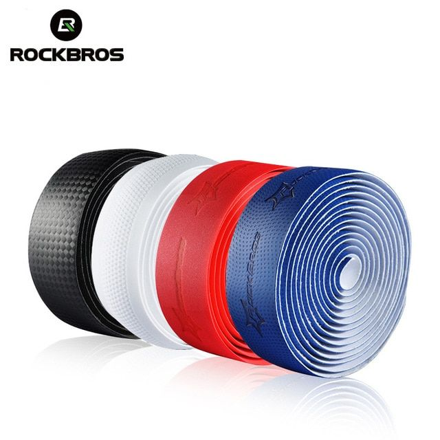ROCKBROS Cycling Handle Belt Road Bike Cork Sports Handlebar Bandage Wrap Bicycle Accessories Bent Bar EVA Grip Tape+2 Bar Plug