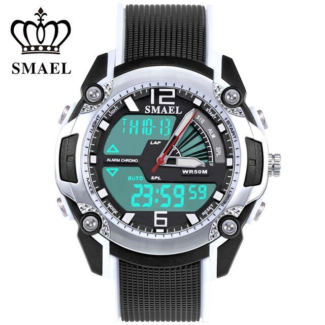 SMAEL Sport Watch for Kids Waterproof Analoge LED Watch Digital Children's Wrist Watch Kids Clock Best Gift for Girl Boy WS1343