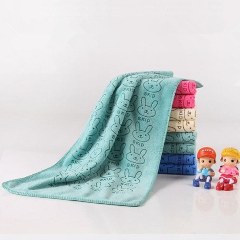 25*50 cm Cute Microfiber Absorbent Drying Bath Beach Towel Washcloth Swimwear Baby Towel For Baby Boys And Girls