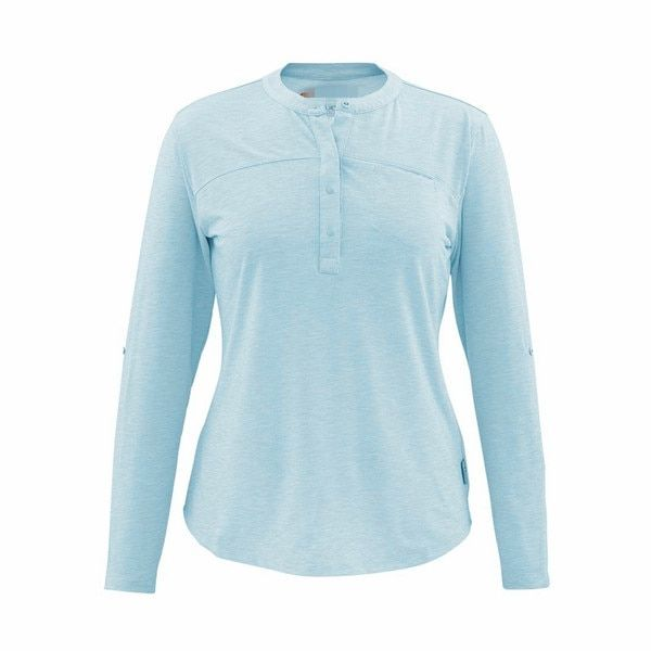 2016 SIMMS  New Women Long Sleeve T Shirt Tencel Quick-drying Shirt USA Size XS -XL Blue Promotion