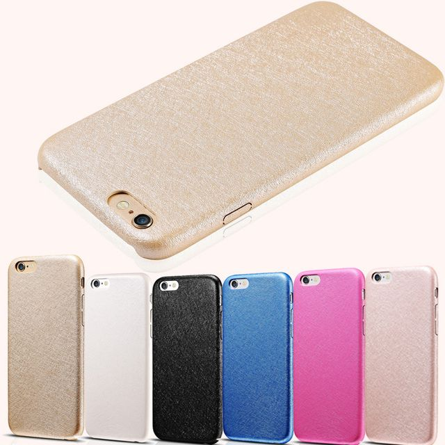 6 S Silk Pattern Slim Soft PU Leather Case For iPhone 6 6S 4.7 Inch 6 Colors Phone Back Cover Luxury Coque Fundas For iPhone6