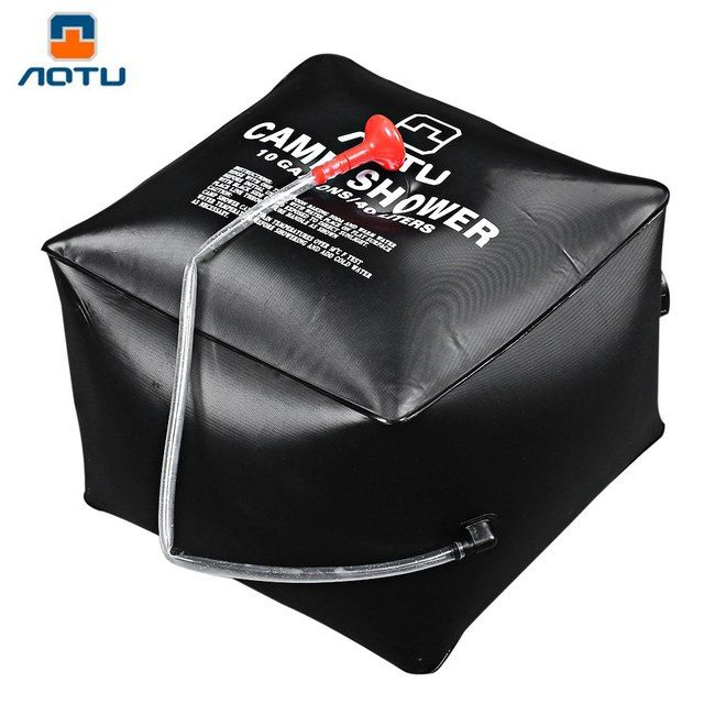 Aotu Outdoor Shower Water Bag Portable 40L 10 Gallon Shower Bag Camping Hiking Solar Heated Shower Bag Wonderful Travel Kits