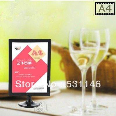 10PCSABS plastic digital photo frame poster advetising price tag A4 display stand,table menu display(Size:A4)