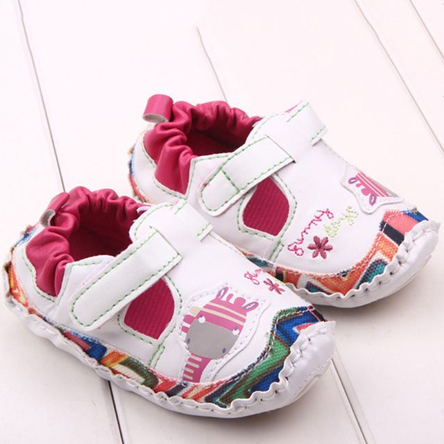 Crib Shoes Toddler Girls Breathable  Cute Baby Kids Cartoon Rubber Sole