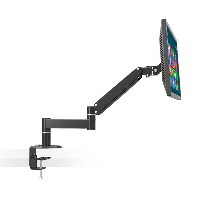 "Desktop Rotating  13""-24"" LCD LED TV Mount Computer Monitor Holder Retractable Arm VESA 75/100 Load 5.5kgs Wall Distance 630mm"