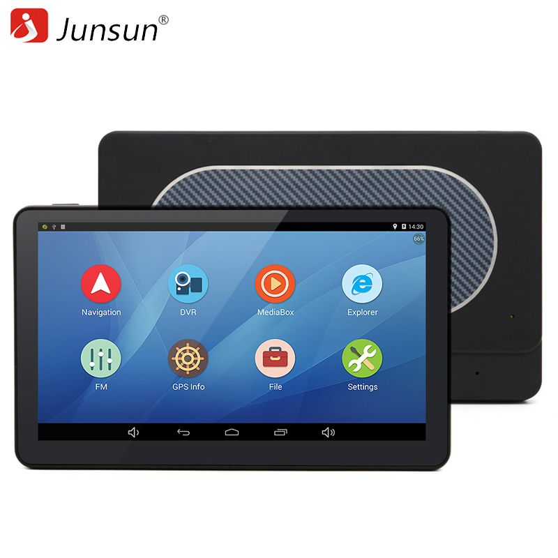 Junsun Car GPS Navigation Android 7 inch Capacitive Navigator Quad-core russia Navitel Europe map truck gps sat nav