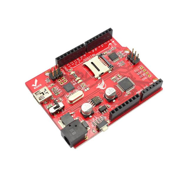 Elecrow Microcontroller Board Crowduino Uno SD V1.5 for Arduino UNO Atmega328P With Mini USB Cable SD Microcontroller