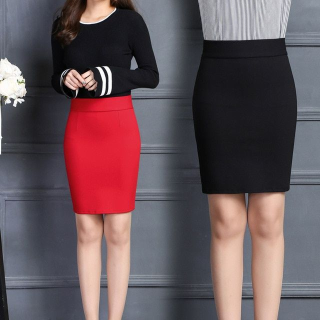 2017 Spring Autumn High Waist Womens Skirts Fashion Sexy Office Lady Midi Skirt Knee-Length Pencil Skirts Women Skirt Faldas