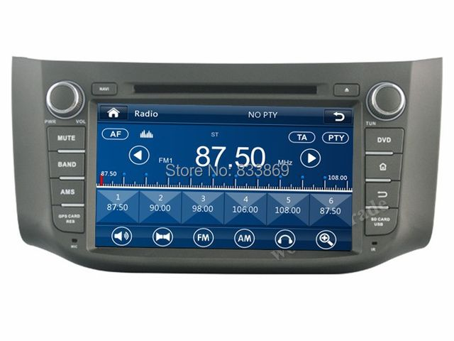 "HD 2 din 8"" Car DVD GPS Navigation for Nissan SYLPHY  B17 2012 2013 2014 With USB Bluetooth IPOD TV Radio/RDS SWC AUX IN"