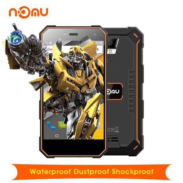 "Original Nomu S10 Android 6.0 Waterproof Dustproof Shockproof 5.0"" 4G Smartphone 5000mAh MTK6737 Quad Core 2GB+16GB Cellphone"