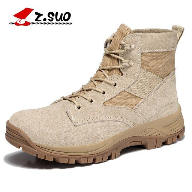 Z. Suo men 's boots, suede breathable boots, western men tube in tactical boots, cargadores masculinos zs157