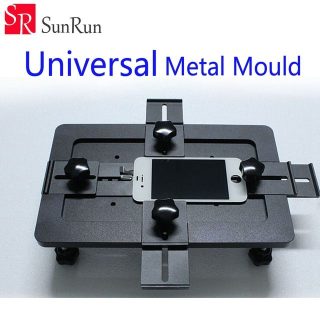 Black Universal Metal Mould Mobile phone LCD Screen Mold Jig Holder Clamp for OCA Laminating