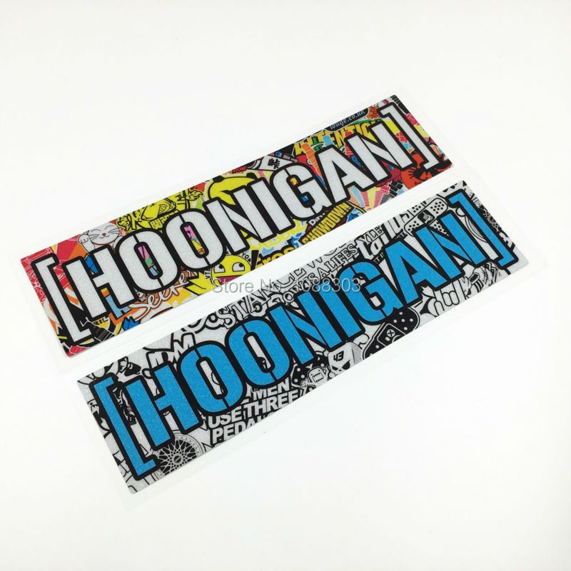 2pcs/lot  Car Motor Sticker Decals Reflective for Car Styling Colorful Kenblock DC Hoonigan