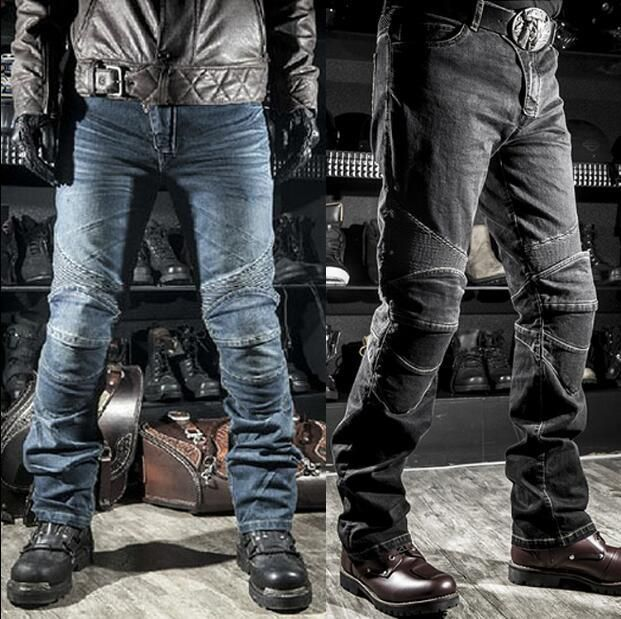 Jeans men Biker jeans Denim Motorcycle jeans Motorcycle pants