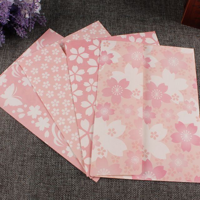 2016 Hot Sale Real Papel Envelopes Mr. Paper Mr.paper Fresh Romantic Envelope Greeting Card To Receive 4 Cherry Bx