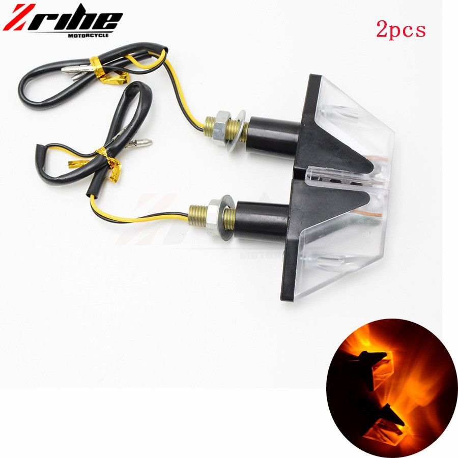 black motorcycle turn signal indicator light motorcycle accessories plastic LED light For kawasaki z250sl z300 yamaha r15 r25 r3