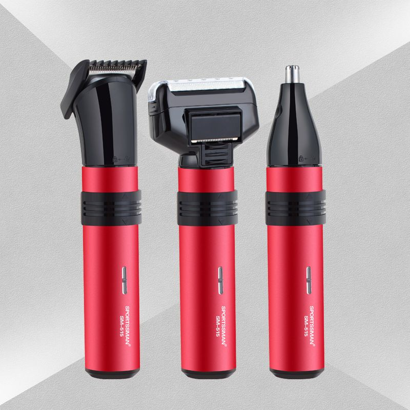 Nose Trimmer maquina de cortar cabelo professional 3 IN 1 Electric Shaver Beard Nose Hair Trimmer Automatic Removal barber tools