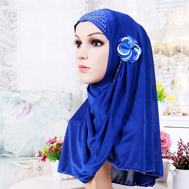 10 colors muslim hats hijab underscarf caps polyester scarf wrapped head hijab for muslim women beautiful girls Muslim hijab