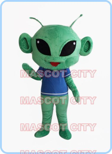 mascot green alien mascot costume adut size good quality extraterrestrial theme anime cosplay costumes carnival fancy dress 2568