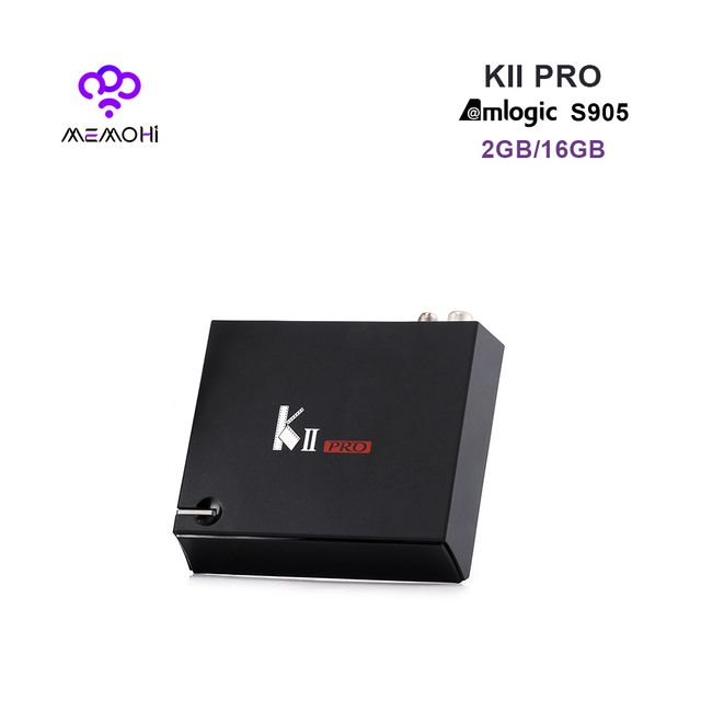 MEMOBOX KII Pro S2 T2 Hybrid Android DVB-S2 DVB-T2 Set-top box Amlogic S905 Quad core with BT4.0 Dual band WiFi 2GB 16GB