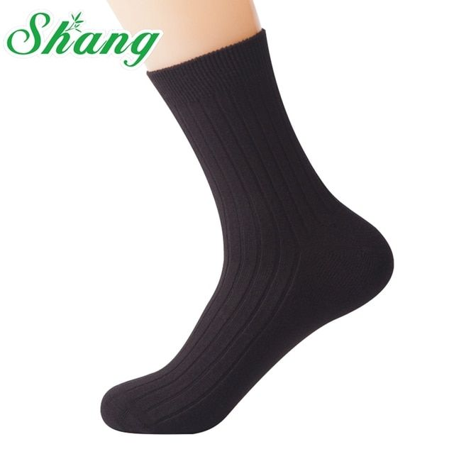 BAMBOO WATER SHANG Men thick socks High quality MEN 98% pure Combed cotton socks men's elite casual  socks LQ-36