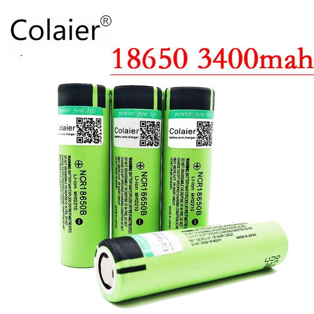2017 Colaier New Original 18650 3400mAh battery Li-lon Rechargeable NCR18650B Battery 3.7 V batteries