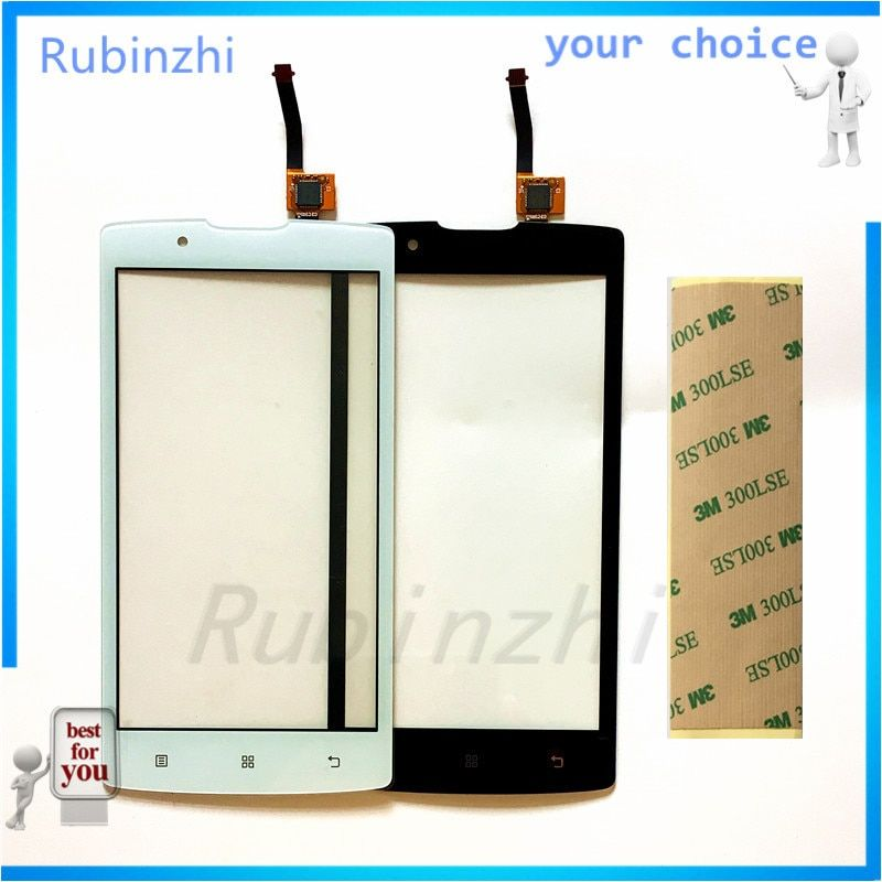 RUBINZHI Mobile Phone Touch Panel For lenovo A2010 A 2010 Touch Screen Front Glass Capacitive sensor Touch Screen Sensor +Tape