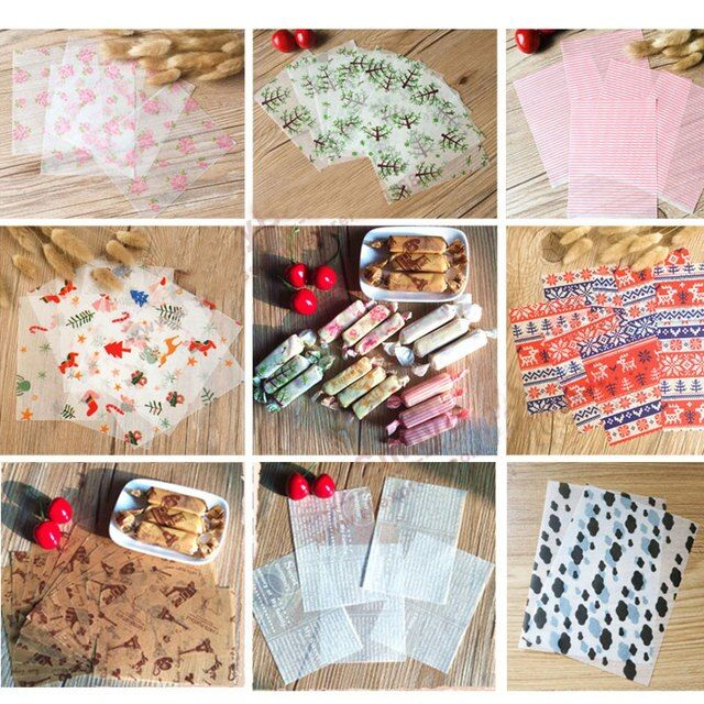 500pcs Lovely Sweet Wrappers Candy Paper DIY Party Baking Oilpaper 12.5*9cm