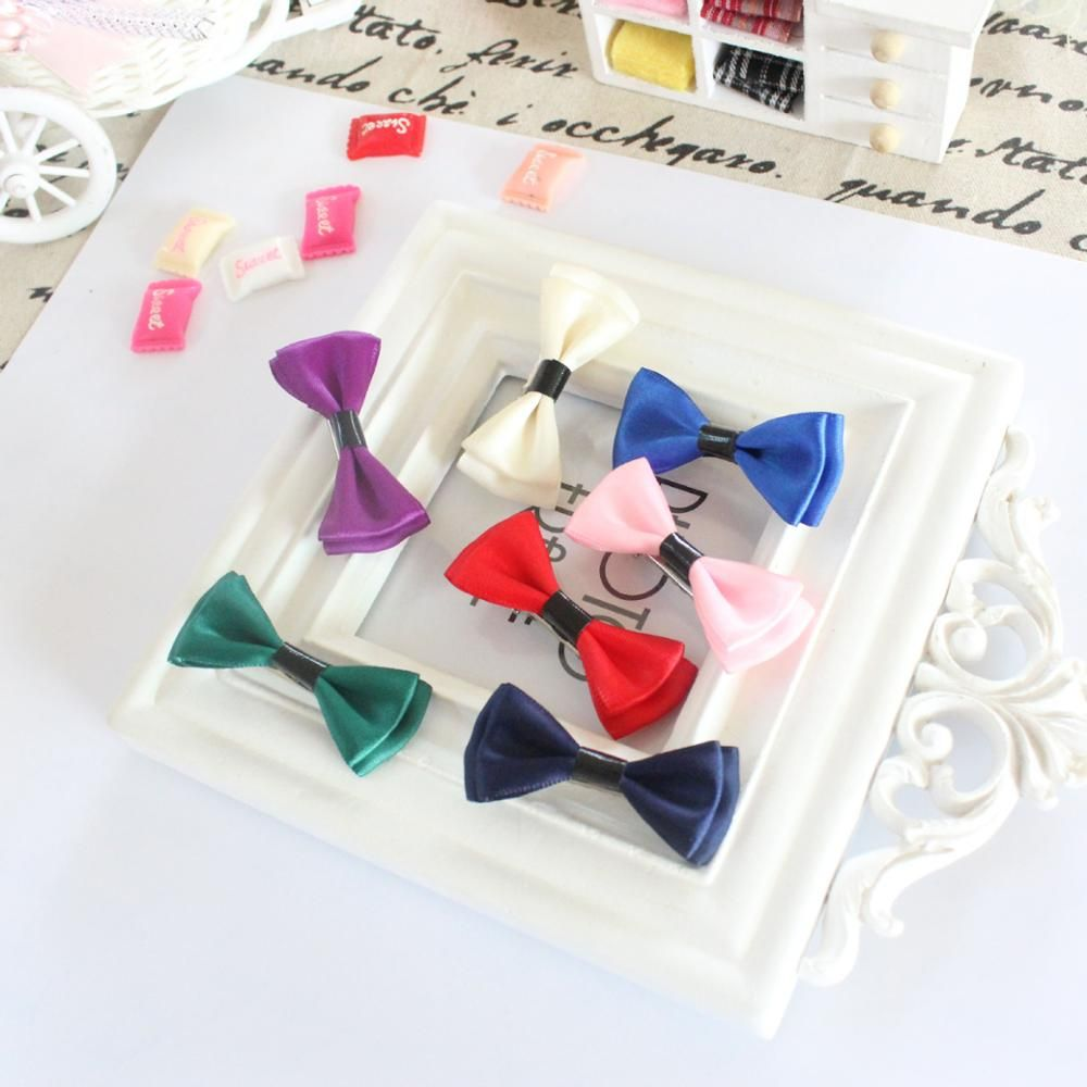 Korean high-grade fabric bowknot pet accessories dog and cat clip barrette wholesale pet hairpin 100pcs