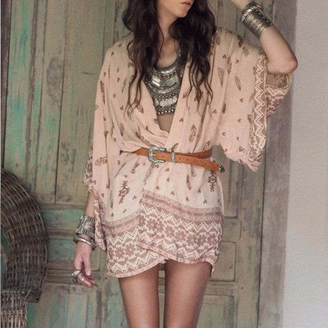 New Fashion Summer Sexy Plus Size Top Beach Kimono Blouse Chiffon Women Floral Kimono Cardigan