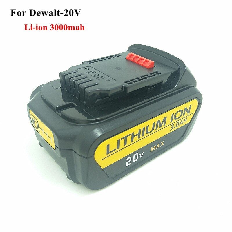For Dewalt 20V 20Volt Max 3.0Ah Li-ion Battery Pack With Fuel Gauge Compatible DCB180 DCB181 DCB200 DCB201,DCB203 DCB204,3000mah