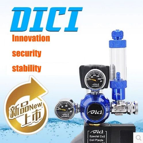Aquarium DICI CO2 Regulator, DICI,coil plants! Solenoid Check Valve,The new design of double stability