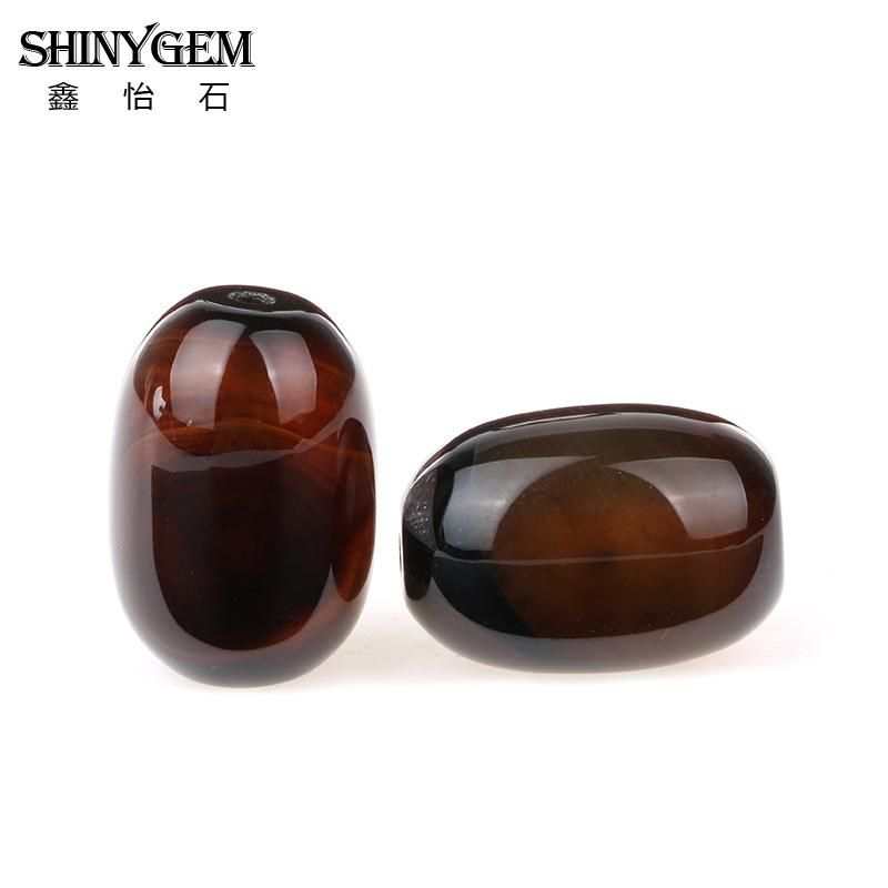 ShinyGem 12*16mm Barrel Brown Coffee Agates Loose Beads Genuine Natural Brazil Agates Stone Beads For Jewelry Making 20pcs/Lot