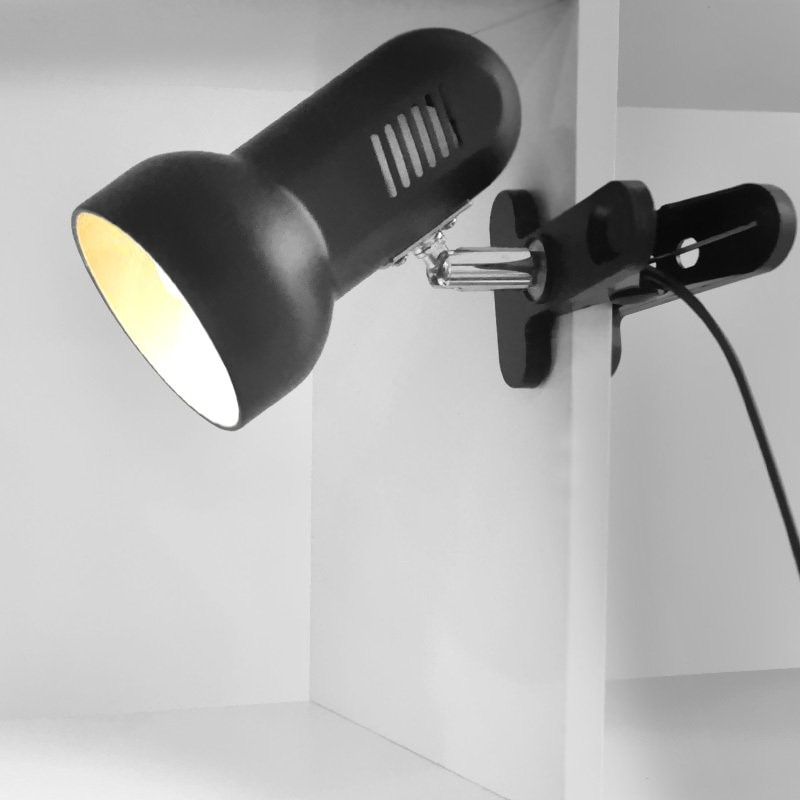 Clip LED Desk Lamp Adaptor EU US Plug 1.8M Rotating Table Light Clip Spotlight Desk Book Reading Light Study Home Lighting
