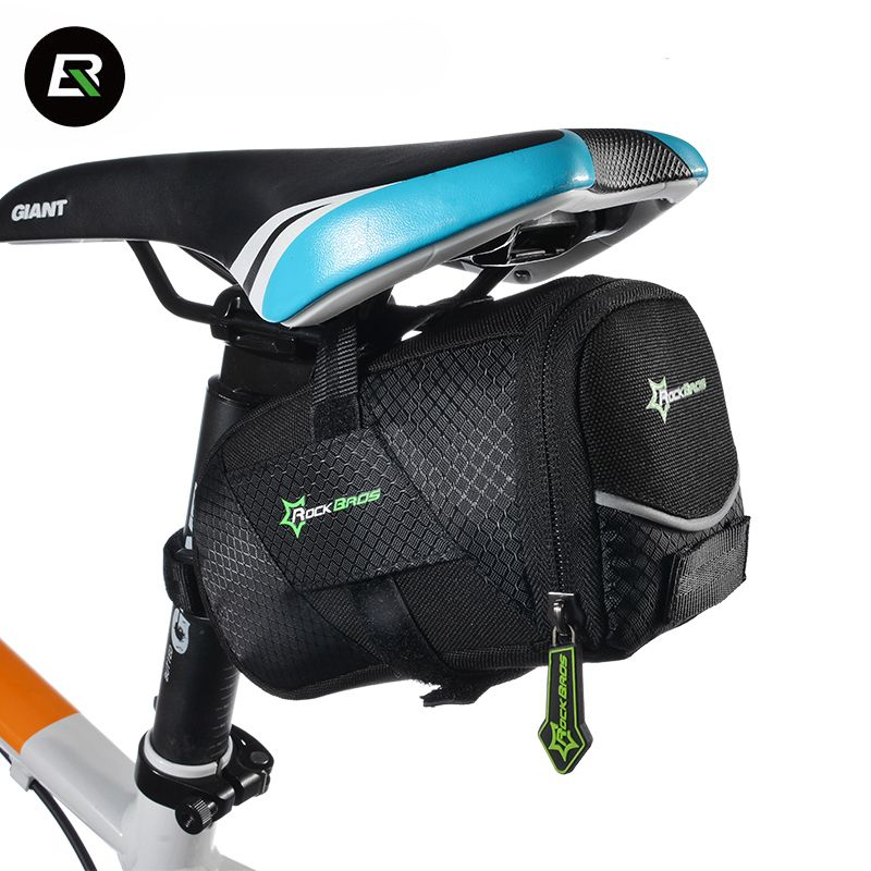 Rockbros Mountain Road Bike Bag Black Anti-scratch Bicycle Saddle Cycling Rear Seat Tail Bag Bicycle Tools Bag Bike Accessories