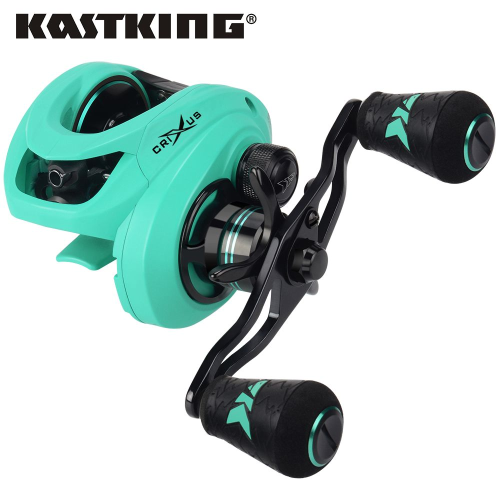 KastKing Crixus 5+1/7+1BBs Super Light Baitcasting Reel Dual Brake System Freshwater Baitcasting Fishing Reel 8KG Drag