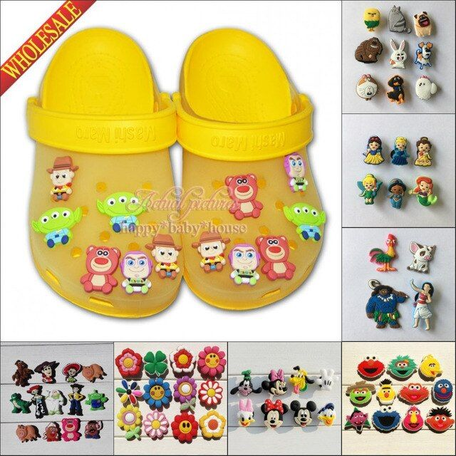 Hot 6-8PCS Lalaloopsy Doc McStuffins PVC Shoe Charms,Shoe Buckles Accessories Fit Bands Bracelets Croc JIBZ,Gifts