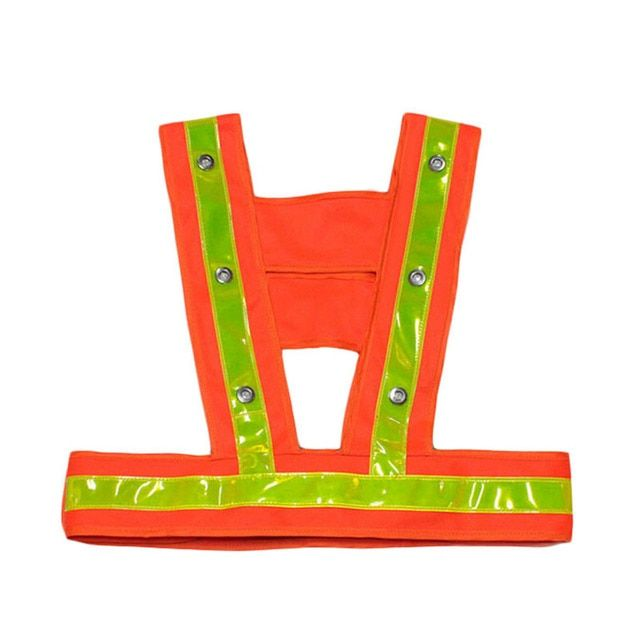 LED Reflective Vest Kids Reflective Safety Vest flashing light with reflective stripes child safety warning vests Work Clothing